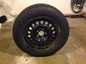 BF Goodrich 225 65 R17 winter tires and rims