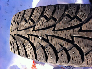 205/75/15 hankook studded winter I pike