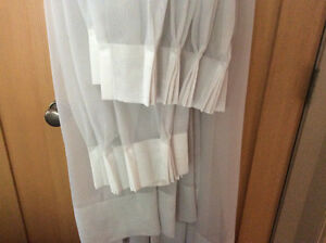 Light grey pinch pleated sheers