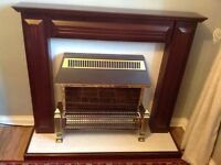 Electric fireplace mahogany effect