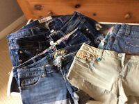 size S Jeans, Shorts, Skirts, Tops