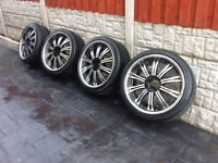 """Mitsubishi l200 22"""" alloy wheels and tyres"""
