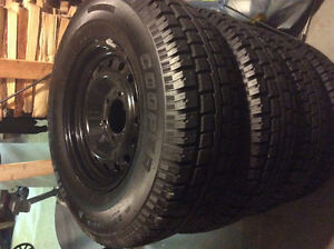 "4 - 16"" new winter truck tires and rims (new) 6 bolt holes"