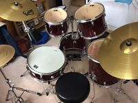 CB 5 piece drum kit, good condition WITH EXTRAS