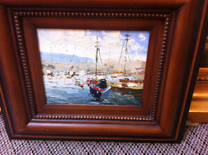 Oil Painting of Sail Boats