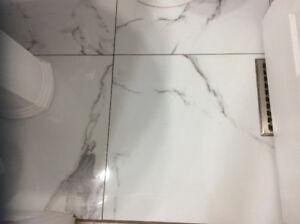 Porcelain tile 24x24 polished carerra