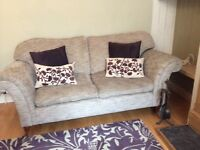 Laura Ashley two seater sofa Laura Ashley chair and john lewis wool rug for sale