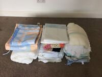 Boys bundle of baby and toddler clothing, shoes and bedding.