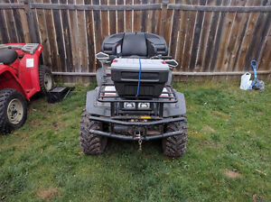Suzuki king quad with plow & winch will consider trade for .....
