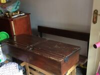 Traditional Victorian style wooden double school desk