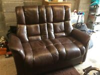 Two seater leather suite