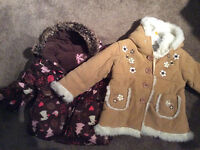 Girls Fall and Winter jackets size 2T