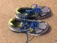 KALENJI TRAINERS SIZE EIGHT AND A HALF .
