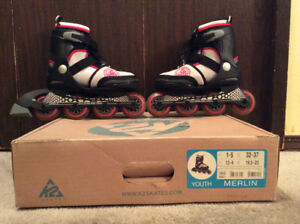 Kids K2 Rollerblades expandable between sizes 1-5