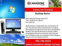 Desktop Basics, Canadore College, Parry Sound