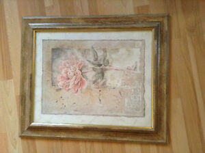 Pink Rose with Gold frame