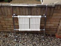 Reclaimed/ Antique cast iron radiator/ towel rail