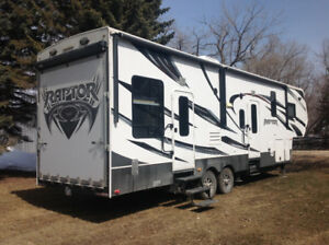 keystone raptor toy hauler rv
