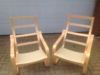 2x IKEA POANG CHAIR FRAMES AND CUSHIONS