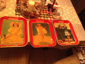 1930's/40's ORIGINAL, NOT REPRODUCTION METAL COKE TRAYS