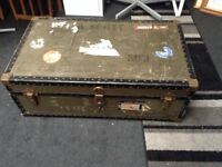Vintage travel trunk chest