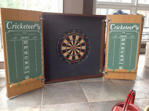 Beautiful hand crafted dart board cabinet