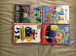THE WIGGLES WITH ORIGINAL CAST SET OF 4 DVDs