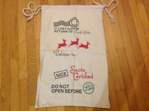 NEW NORTH POLE SANTA BAG FOR CHRISTMAS PRESENTS PERSONALIZE IT!