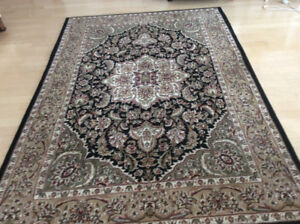 Two identical rugs.   Black detailing.  Like new