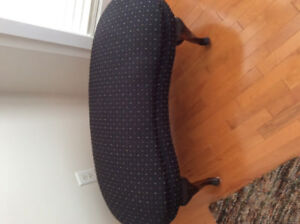 Antique kidney shaped bench
