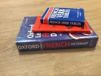 French dictionary and other books
