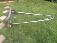 Stainless steel dinghy or tender aunching trolley for dinghy or boat