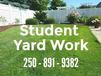 Student Yard Work - professional service at affordable rates