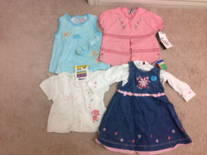 Baby girl clothes - brand new,  size 12M