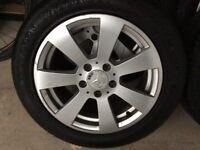 205 55 R16 set of 4 Mercedes Alloy Wheels Brand New Tyres c200 5x112 Caddy Transporter T4 VW