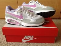 Nike Air Max ST (GS) Size UK 4 - White/Lilac - Excellent Condition