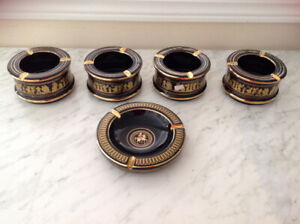 Antique Brand New Ash Trays Hand Made in Greece IN 24 K GOLD sta