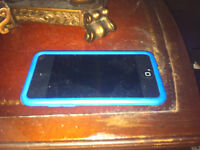 iPod 4th Generation 8gb with a Blue Case and Charger