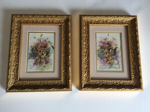 Dried Flowers and Water Colour Originals.