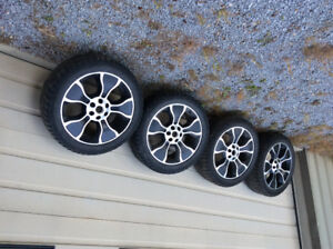 "2012 Factory F150 Harley Davidson 22"" rims With near new Bridges"