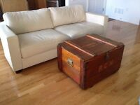 Vintage Flat-Top Crate Trunk Coffee Table