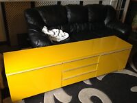 IKEA besta burs gloss yellow tv cabinet