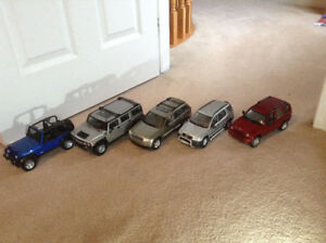 1/18 diecast cars jeep/suv collection