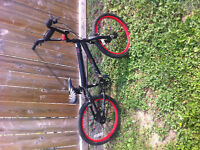 20 inch red and black BMX