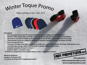 Embroidered Winter Toques