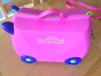 Trunki Ride On Suitcase Girls Trixie Pink Excellent Condition