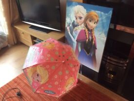 Frozen canvas and and umbrella