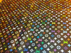 Louis Vuitton multicolour vinyl fabric 54x36inches