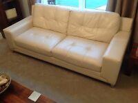DFS cream leather sofas 3+2 *new*