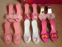 Girls dress up shoes, costume age 3+